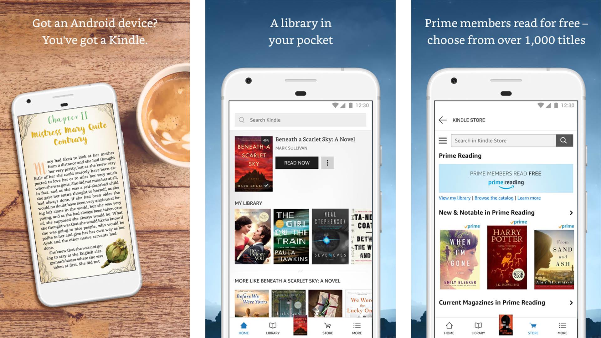 Amazon Kindle screenshot 2020