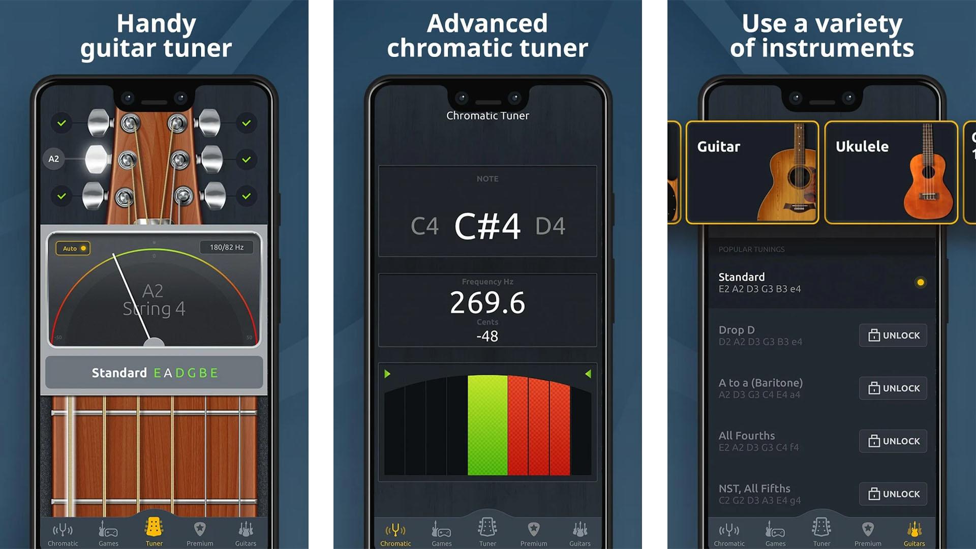 Chromatic Guitar Tuner screenshot 2020