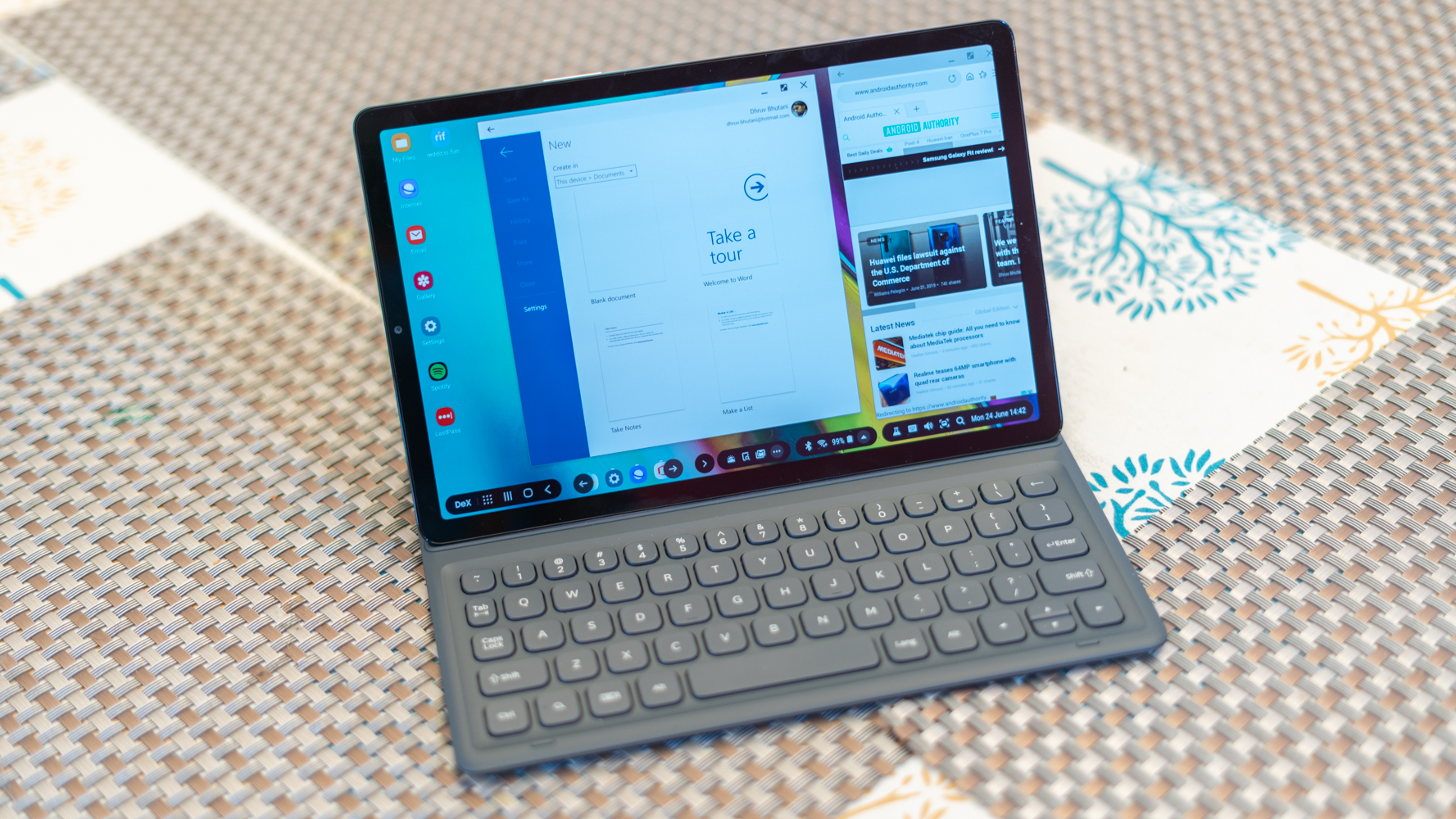 Galaxy Tab S5e in Dex Mode