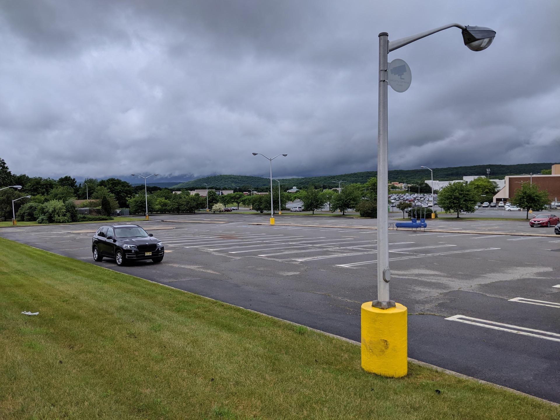 Google Pixel 3a XL Camera Review Landscape lamp and car