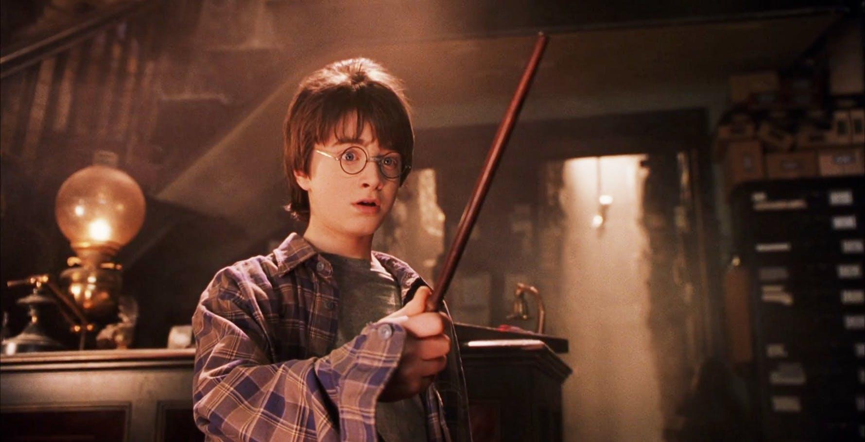 Harry Potter receiving wand