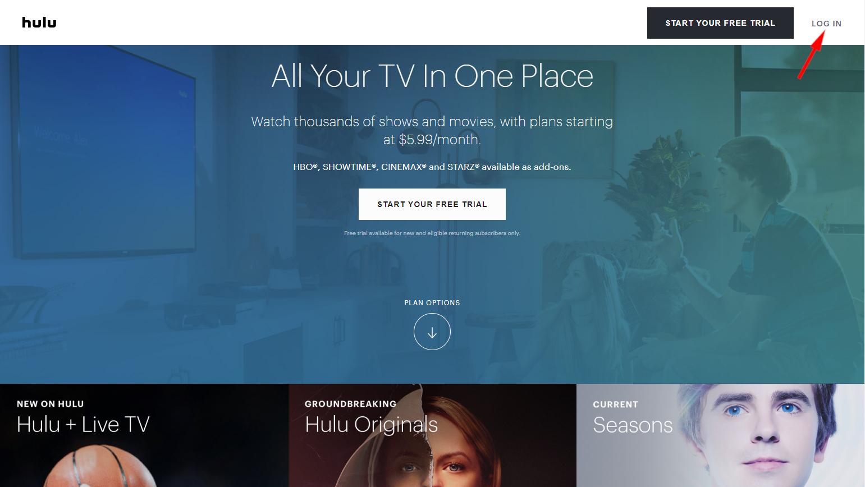 Hulu Log In Web to delete hulu account