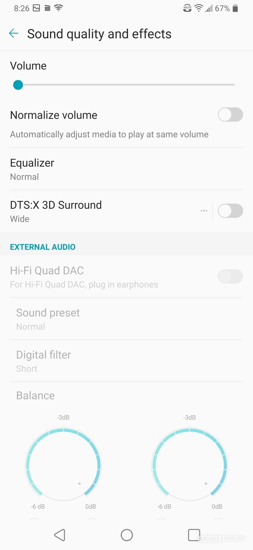 LG V50 ThinQ Review audio dashboard