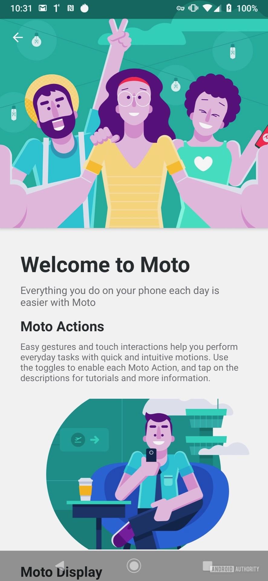 Motorola Moto Z4 Moto App