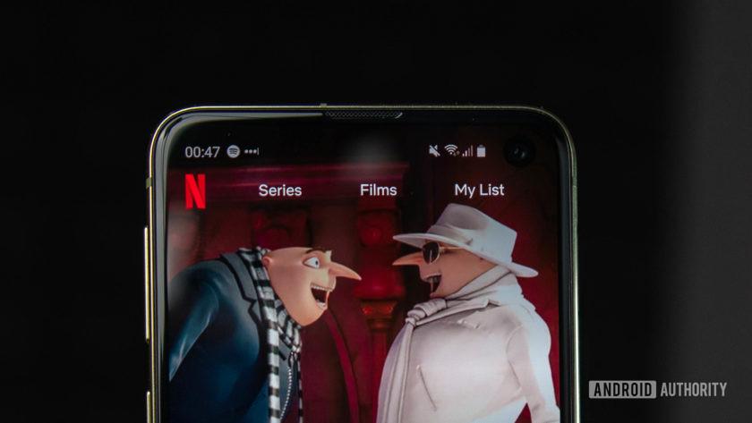 Netflix Android App Galaxy S10e