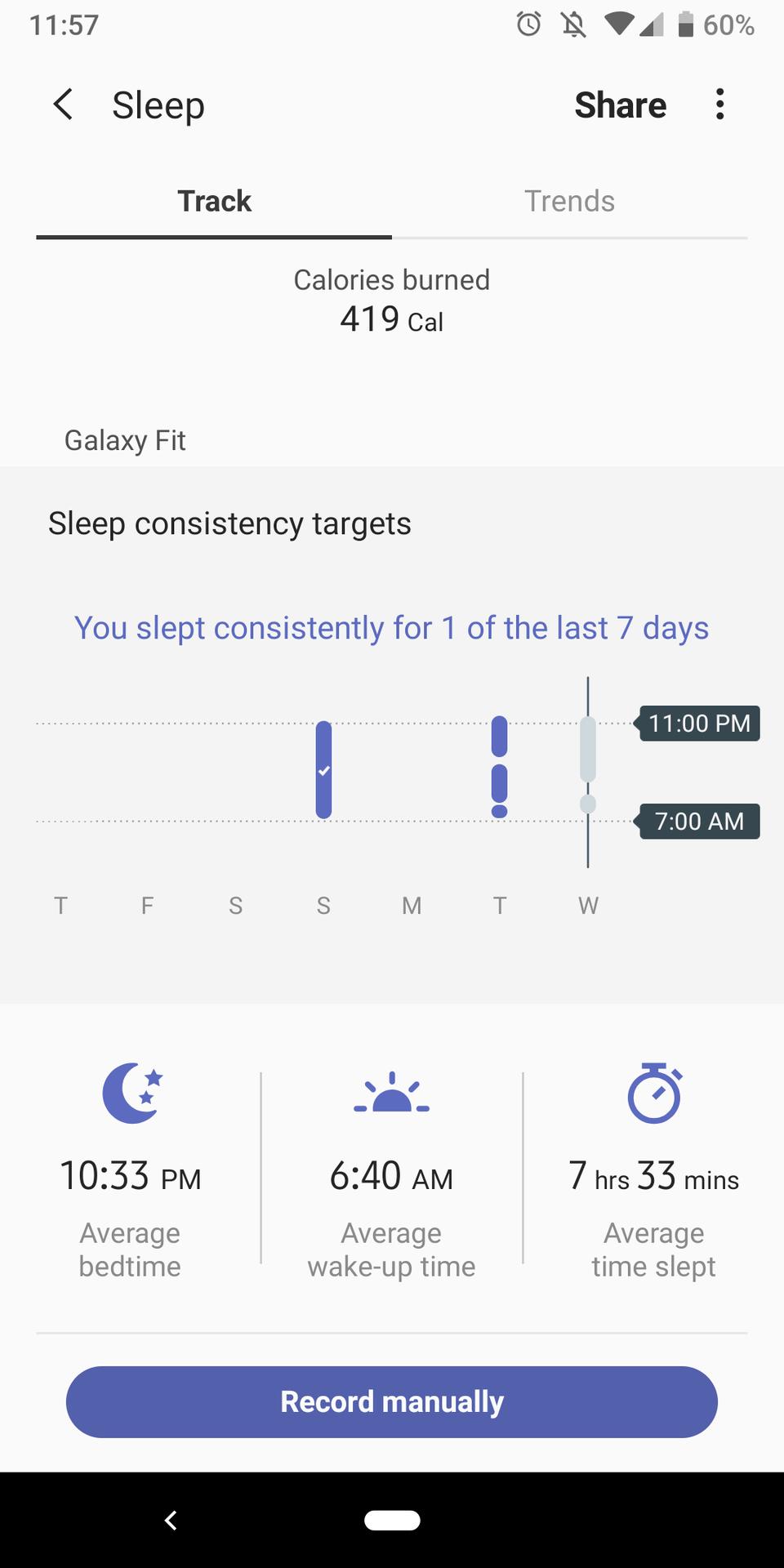 samsung health sleep tracking samsung galaxy fit