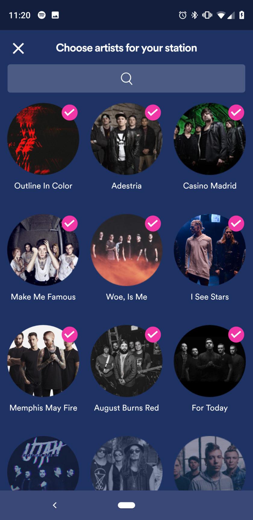 Screenshot of Spotify's Stations app 3