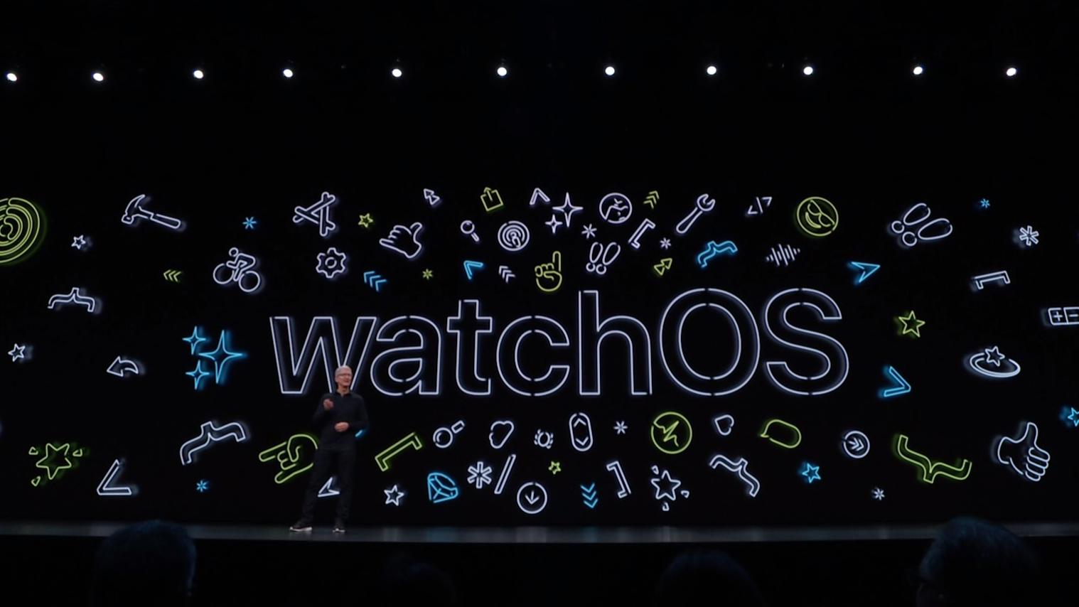 Apple WWDC 2019 watchOS event image.