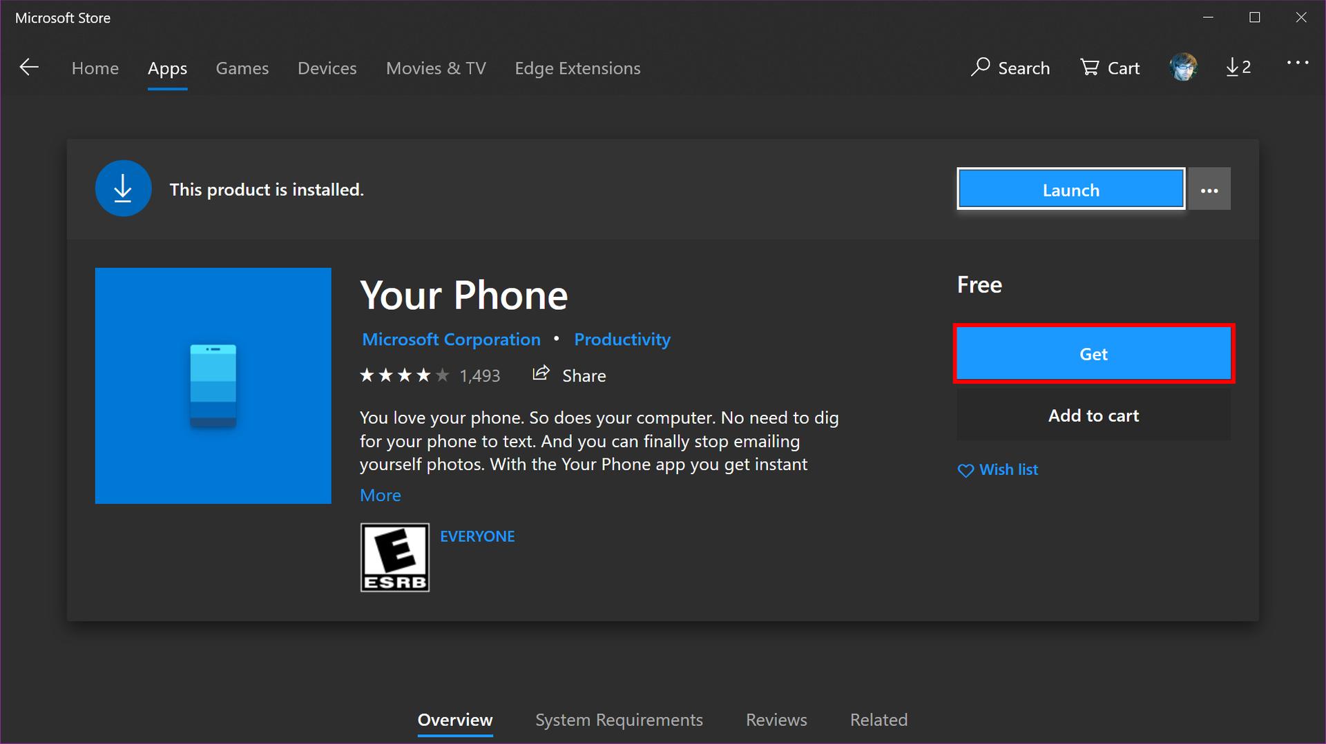 Windows 10 Get Your Phone App