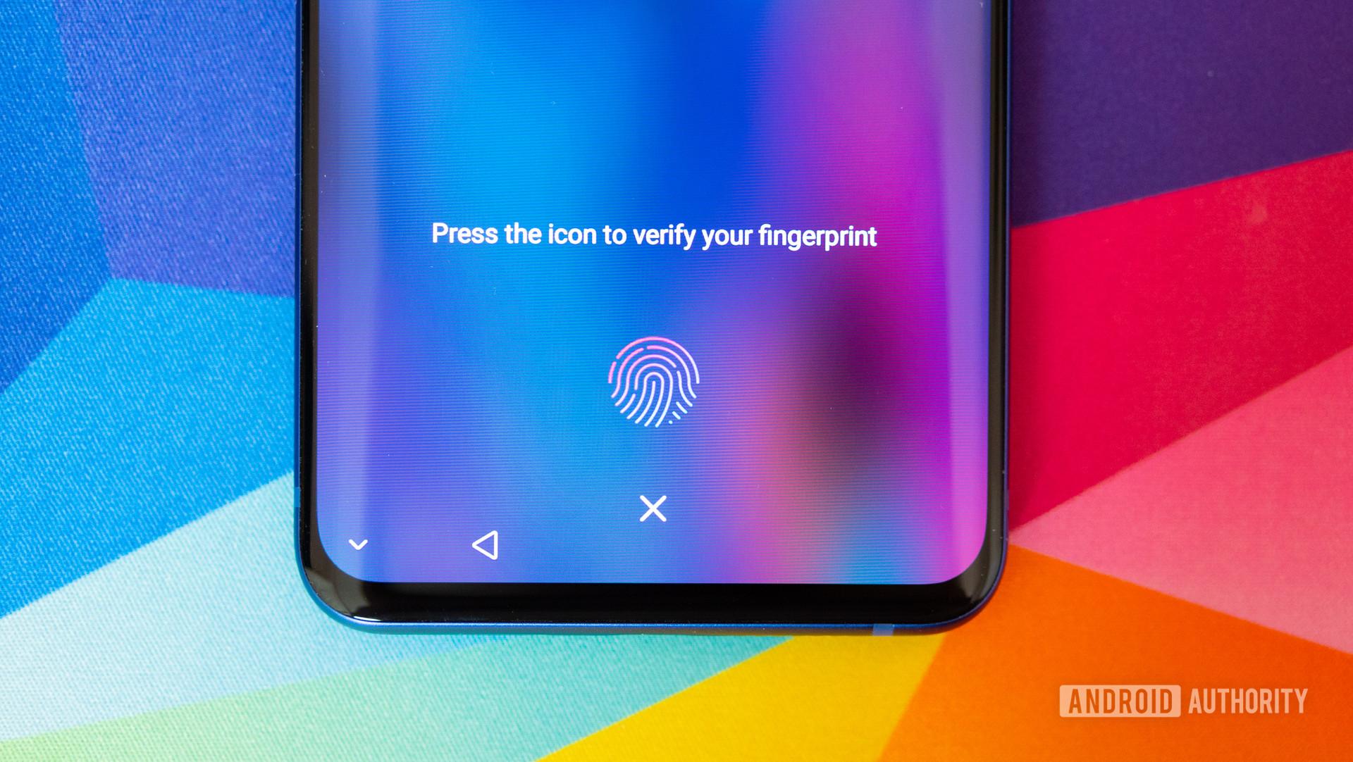 ZTE Axon 10 Pro in-display fingerprint sensor