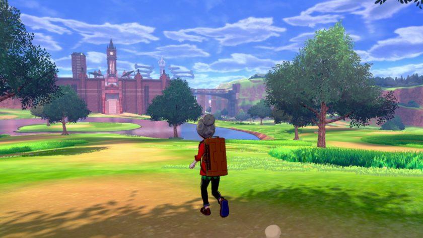 Pokemon Sword and Pokemon Shield screenshot wild area landscape