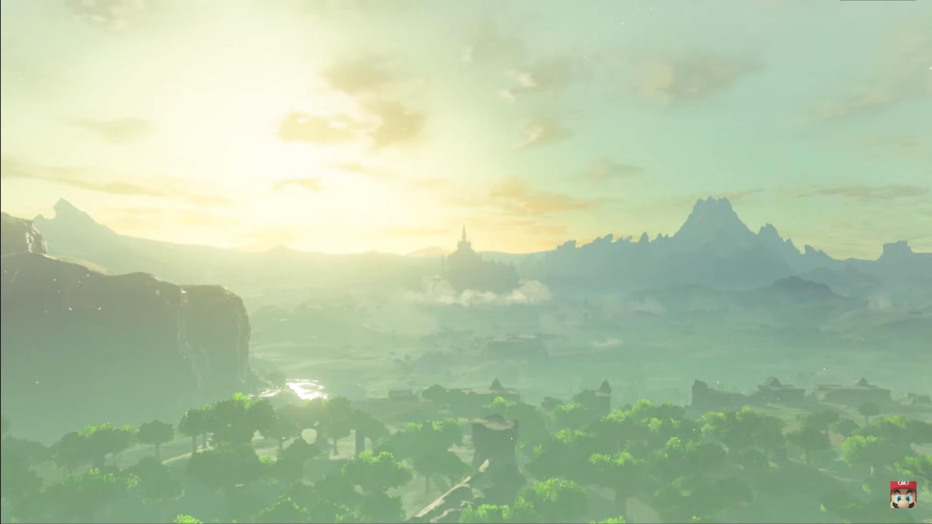 The Legend of Zelda Breath of the Wild sequel showing Hyrule.