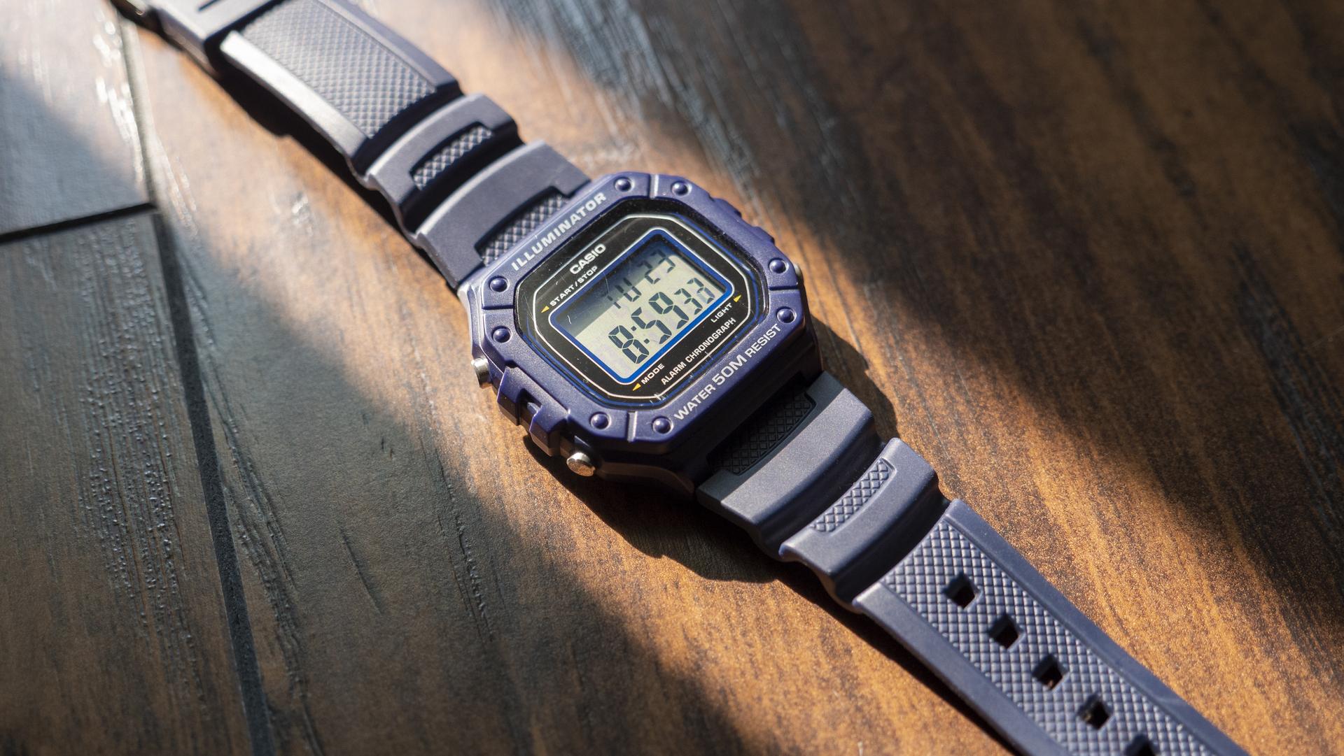 Casio W 218H digital watch