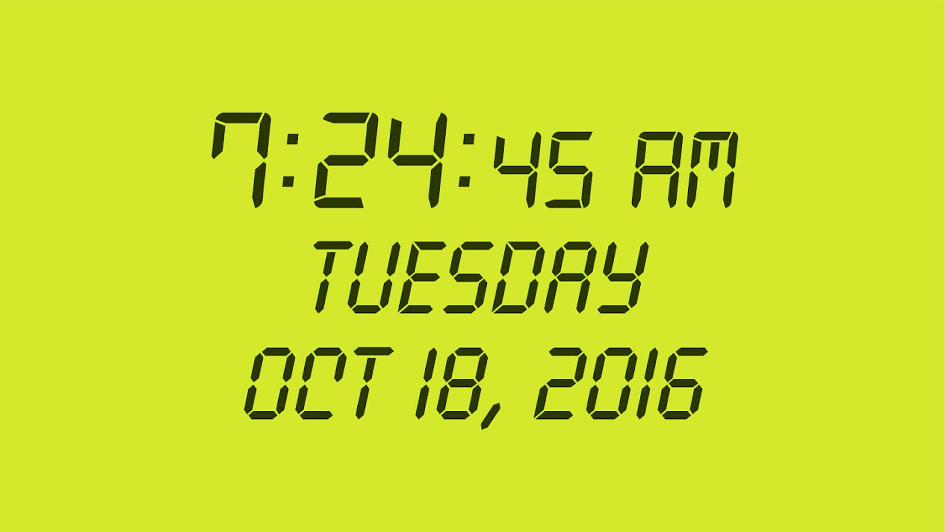 Digital Clock Panagola screenshot