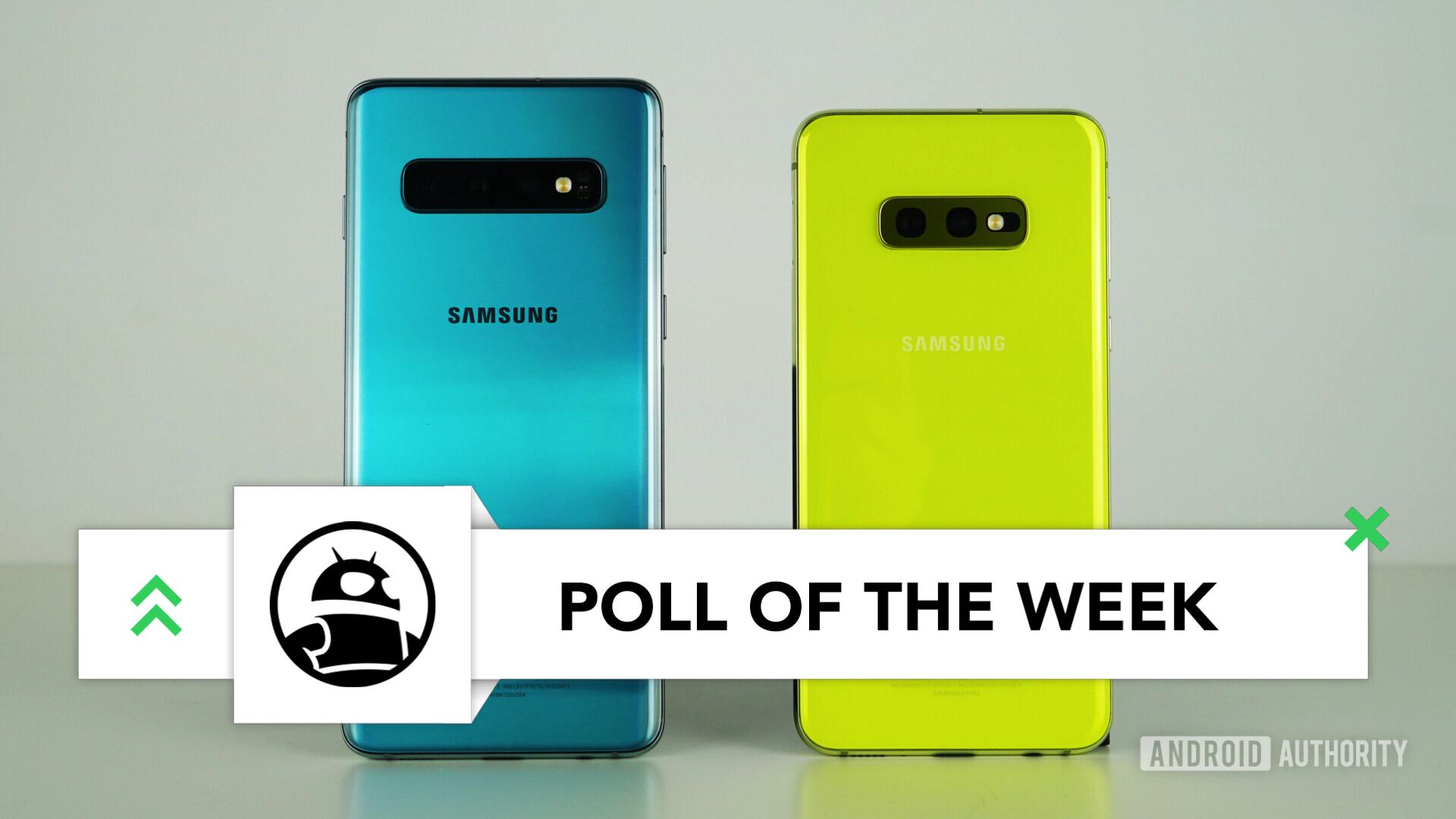 Samsung Galaxy S10 vs Samsung Galaxy S10e back green yellow poll