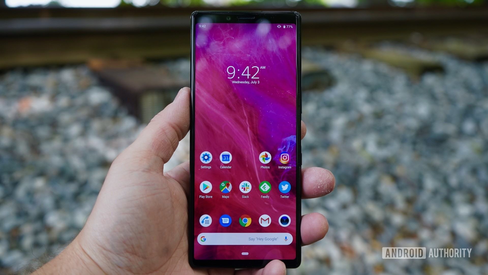 Sony Xperia 1 review hand fit