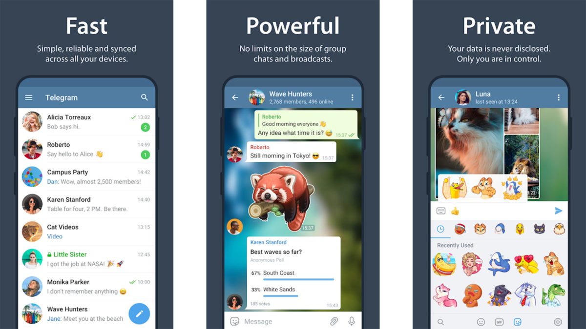 Telegram screenshot best messenger apps
