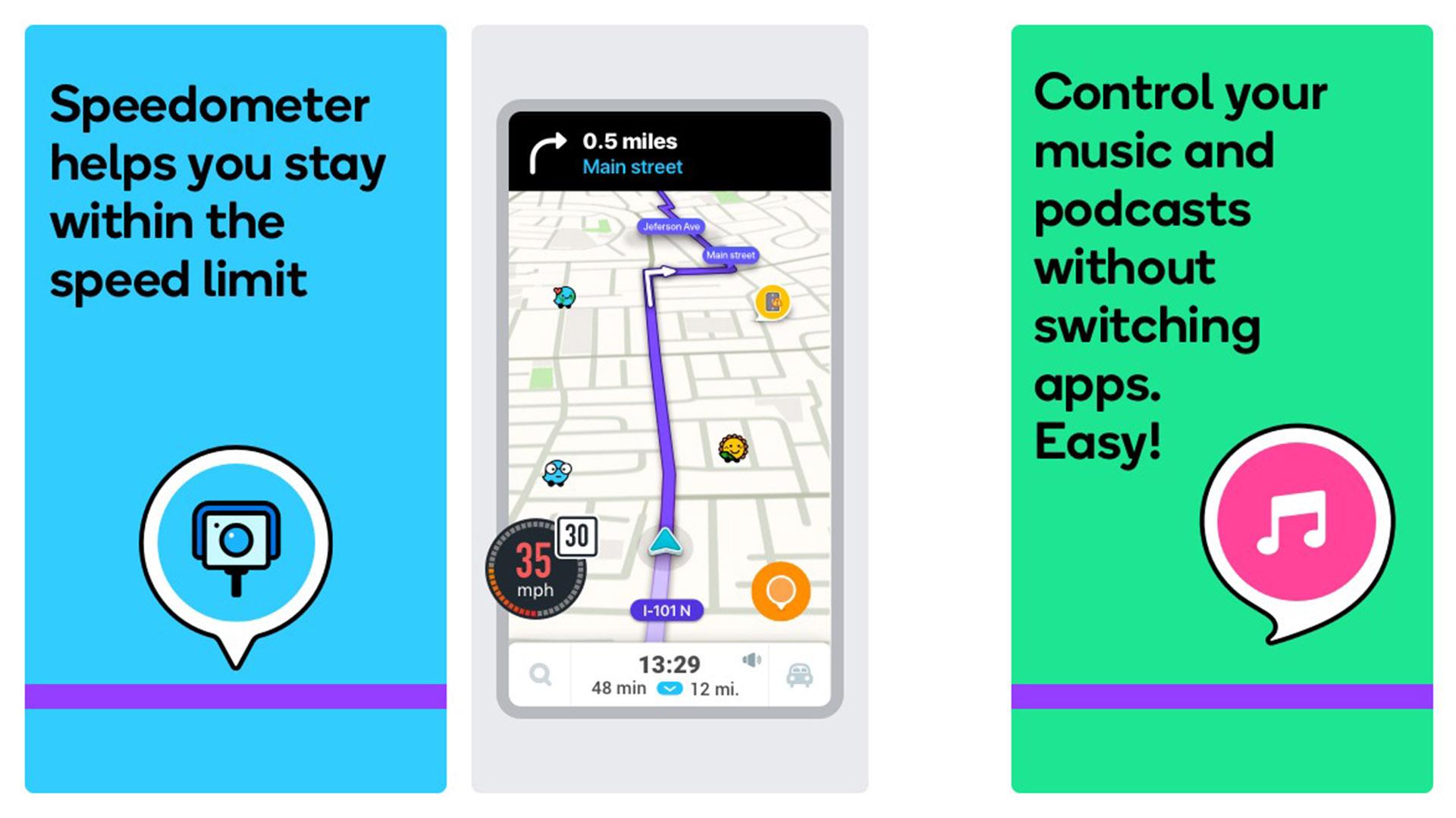 Waze screenshot 2020