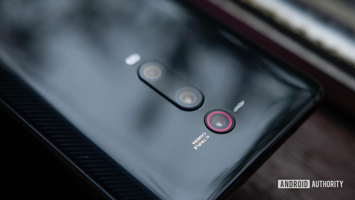 Xiaomi Mi 9T Rear casing focused on camera system