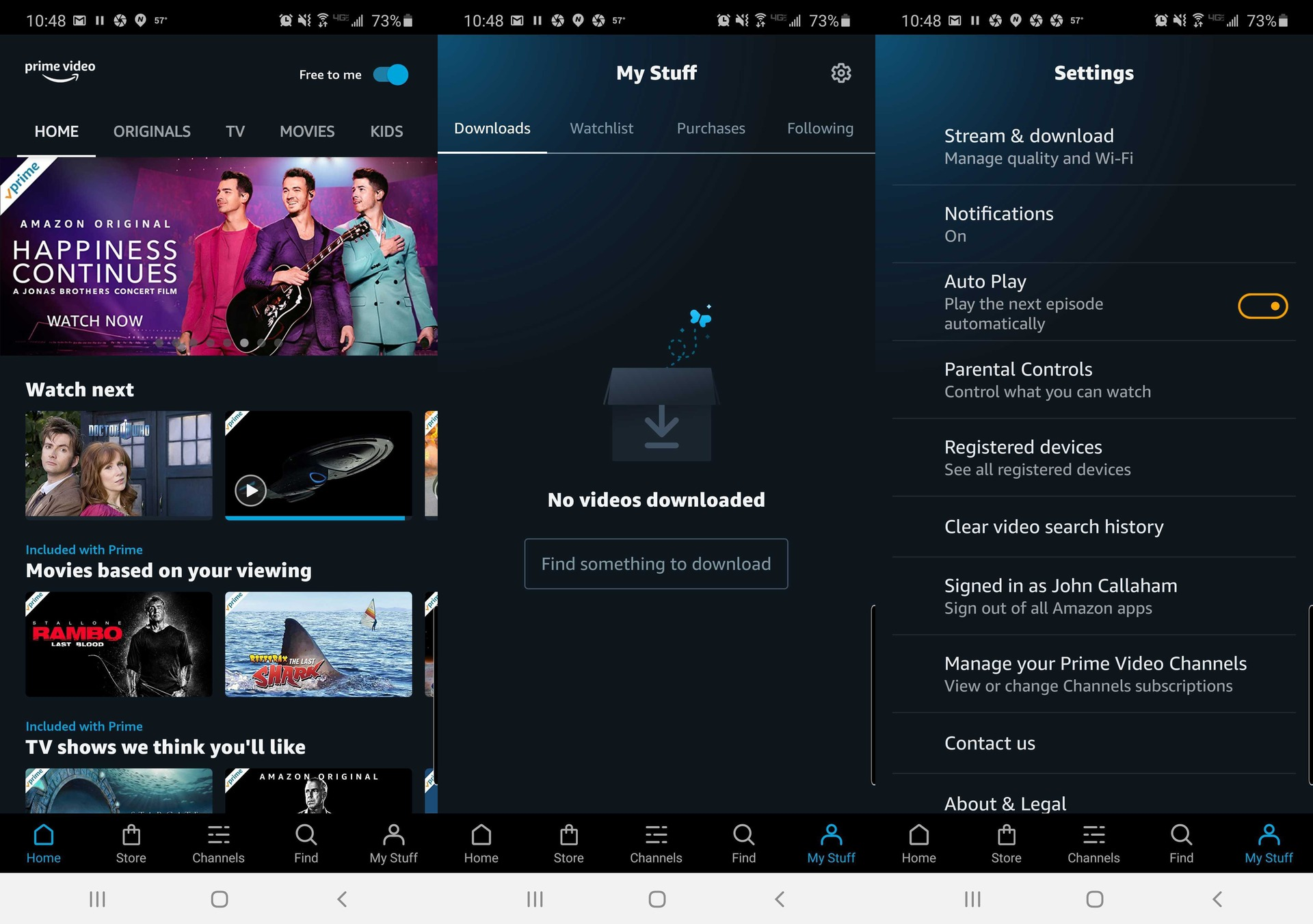 amazon prime video history app