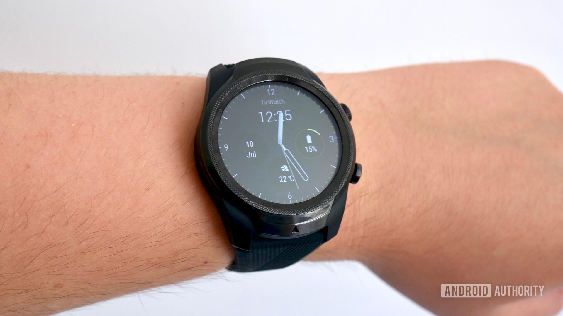 TicWatch Pro 4G/LTE on wrist