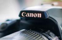 Canon logo closeup
