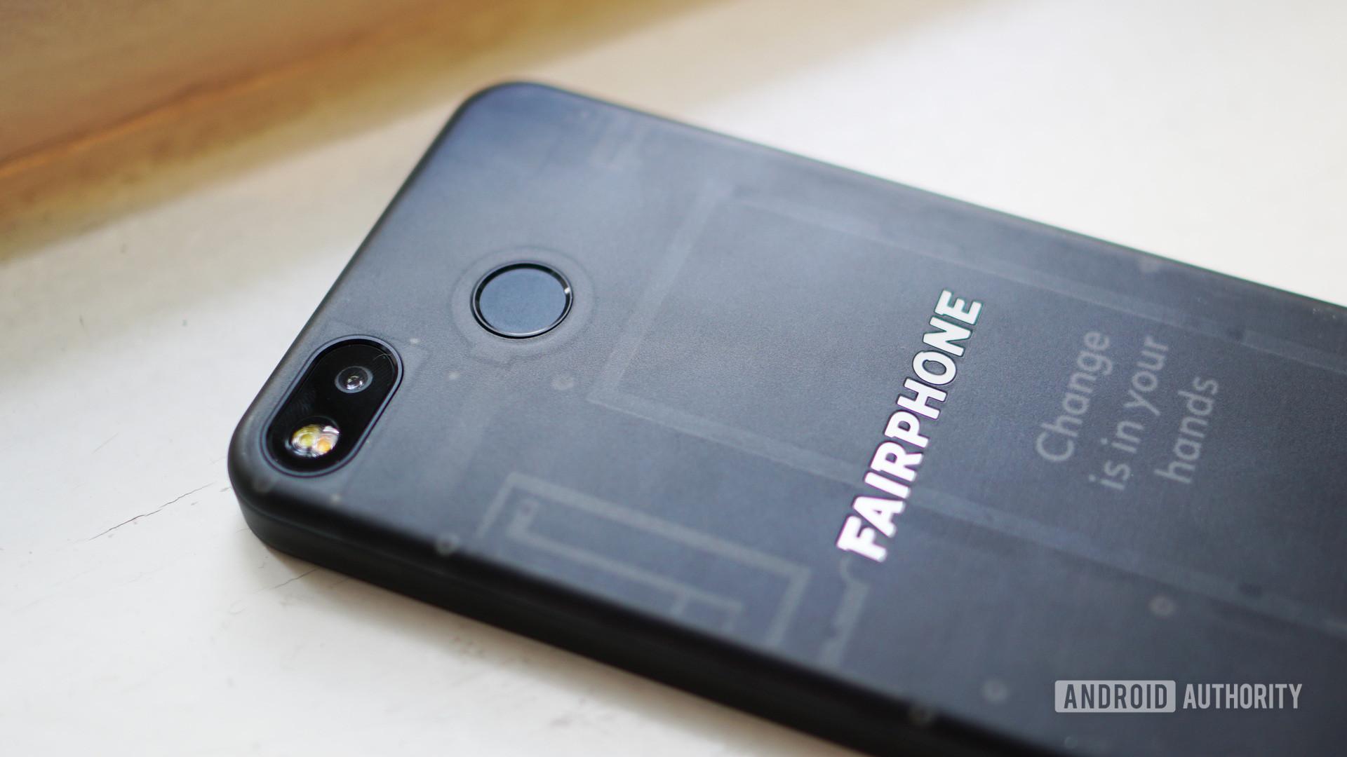 Fairphone 3 back camera fingerprint scanner