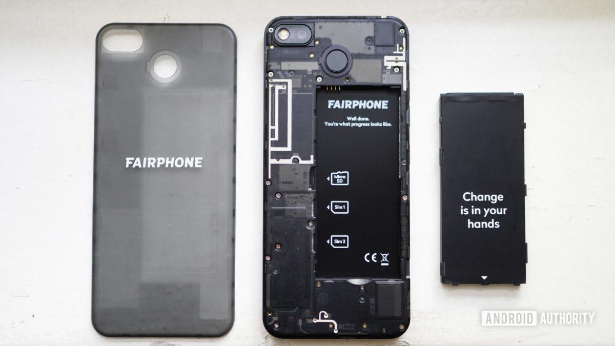 Fairphone 3 disassembled