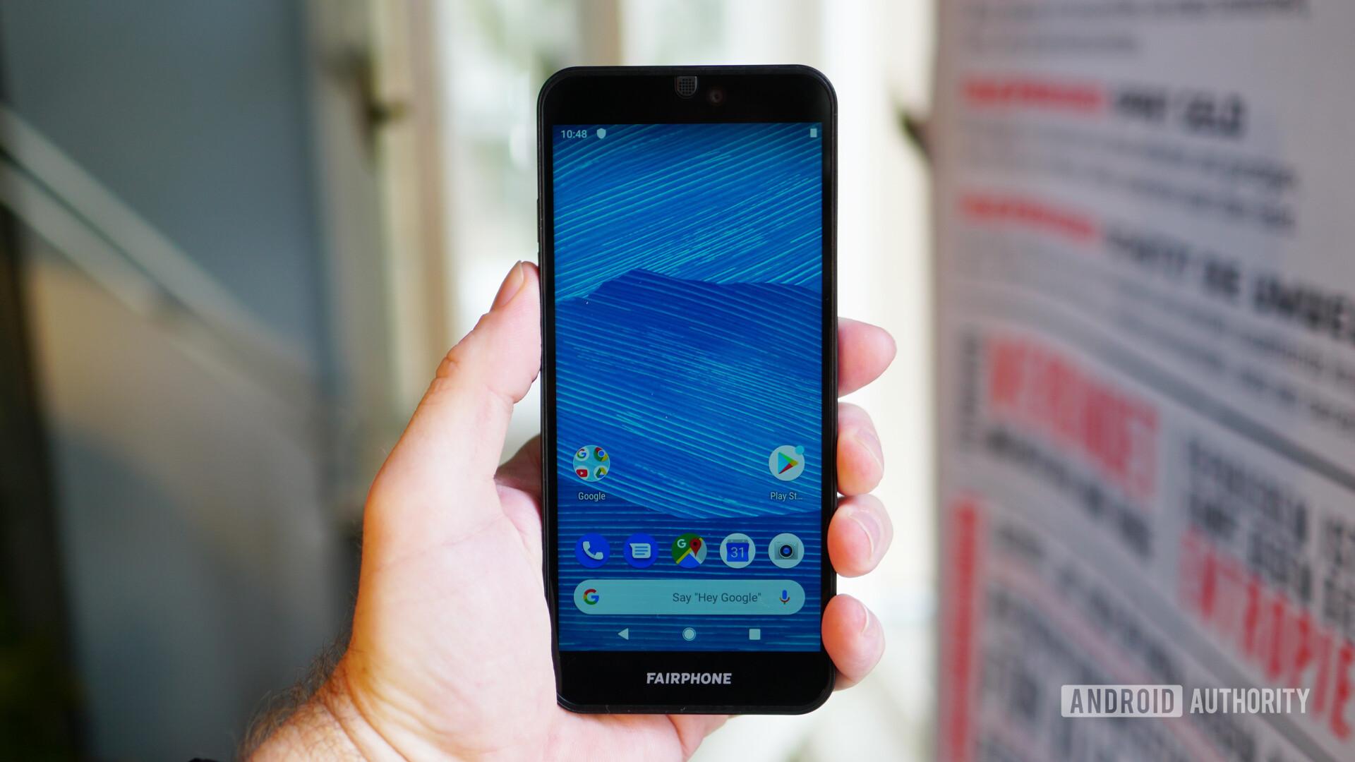 Fairphone 3 display home screen