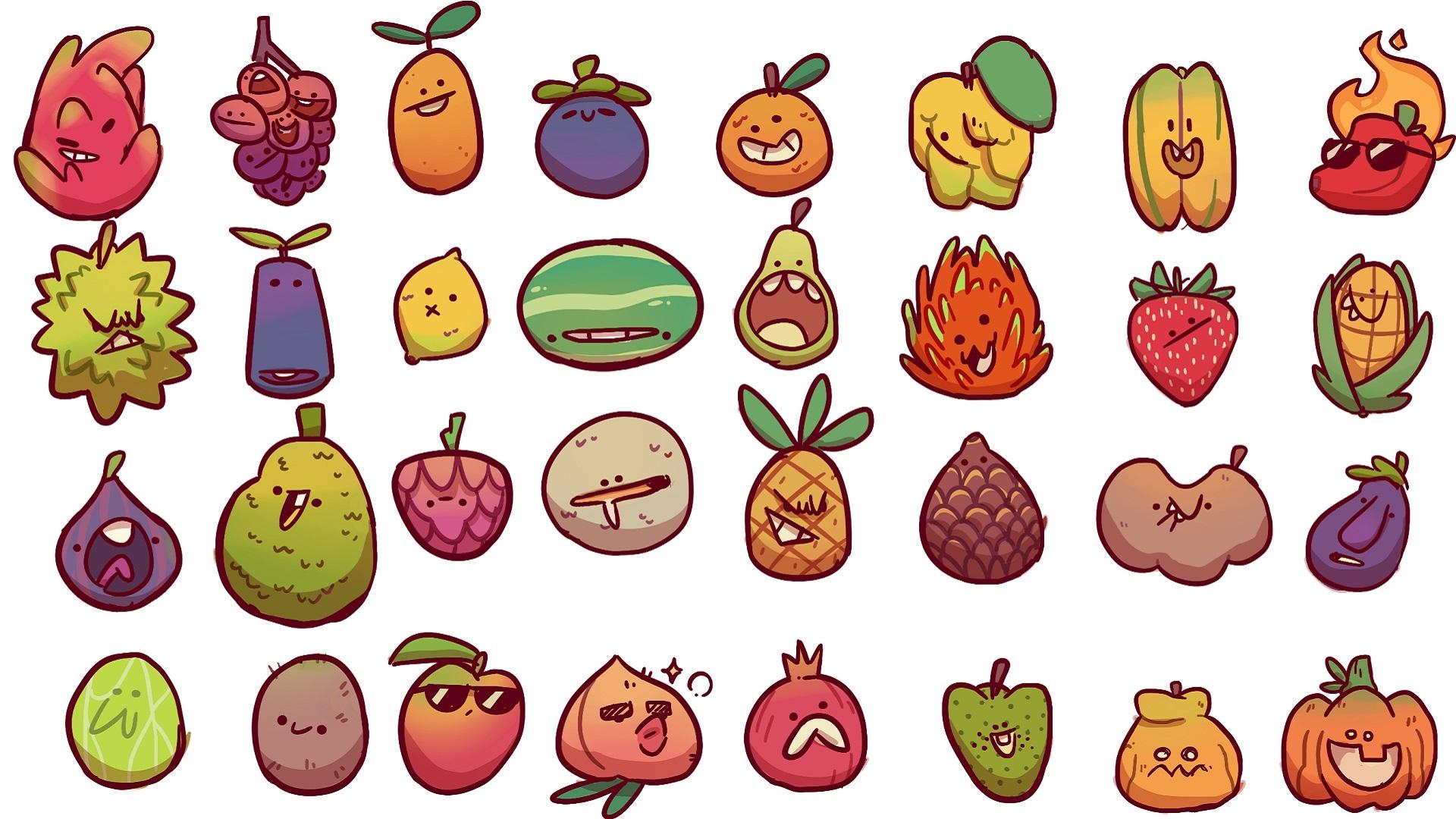 Farm Punks fruit concept art
