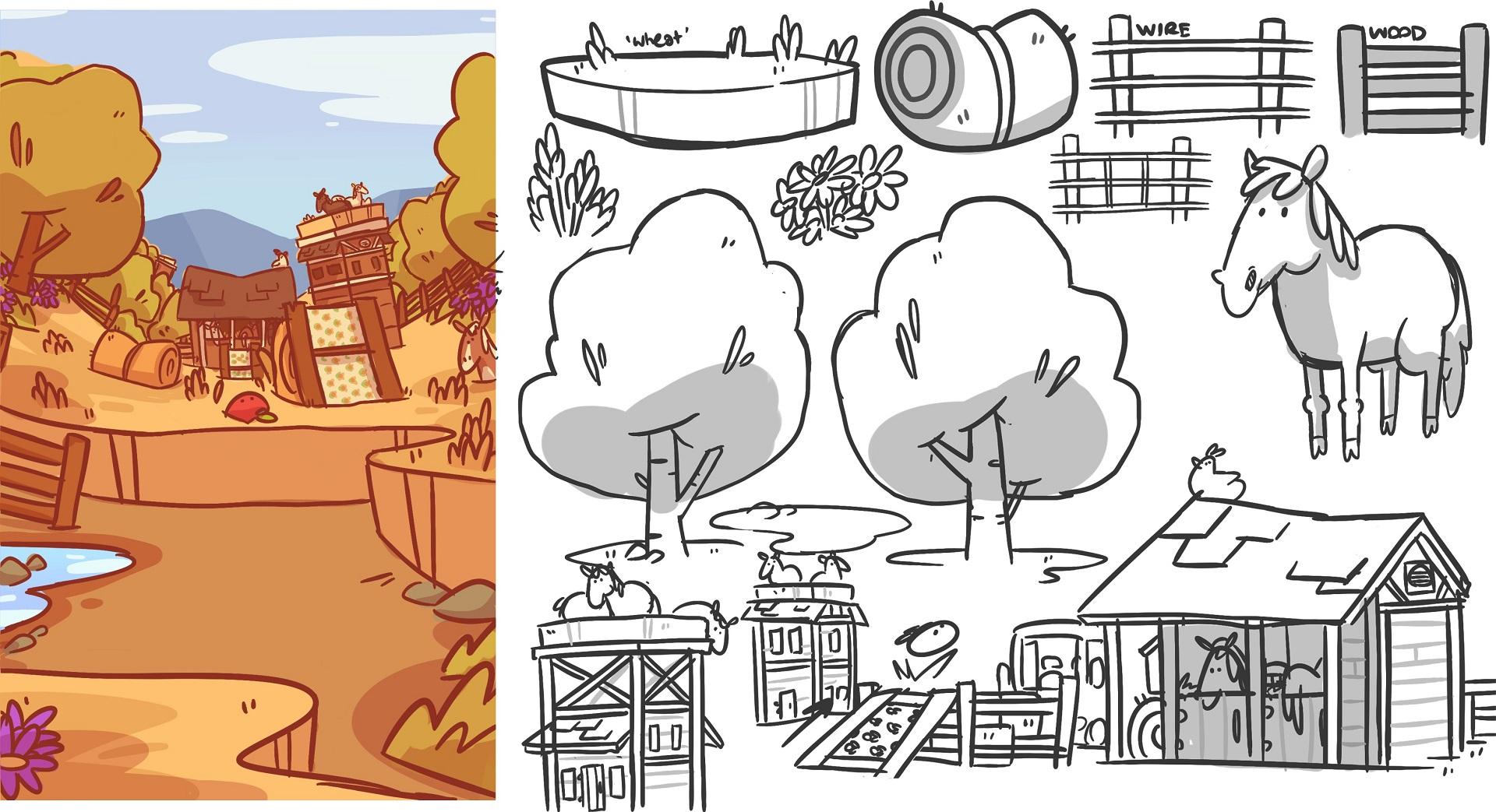 Farm Punks plain pastures concept art