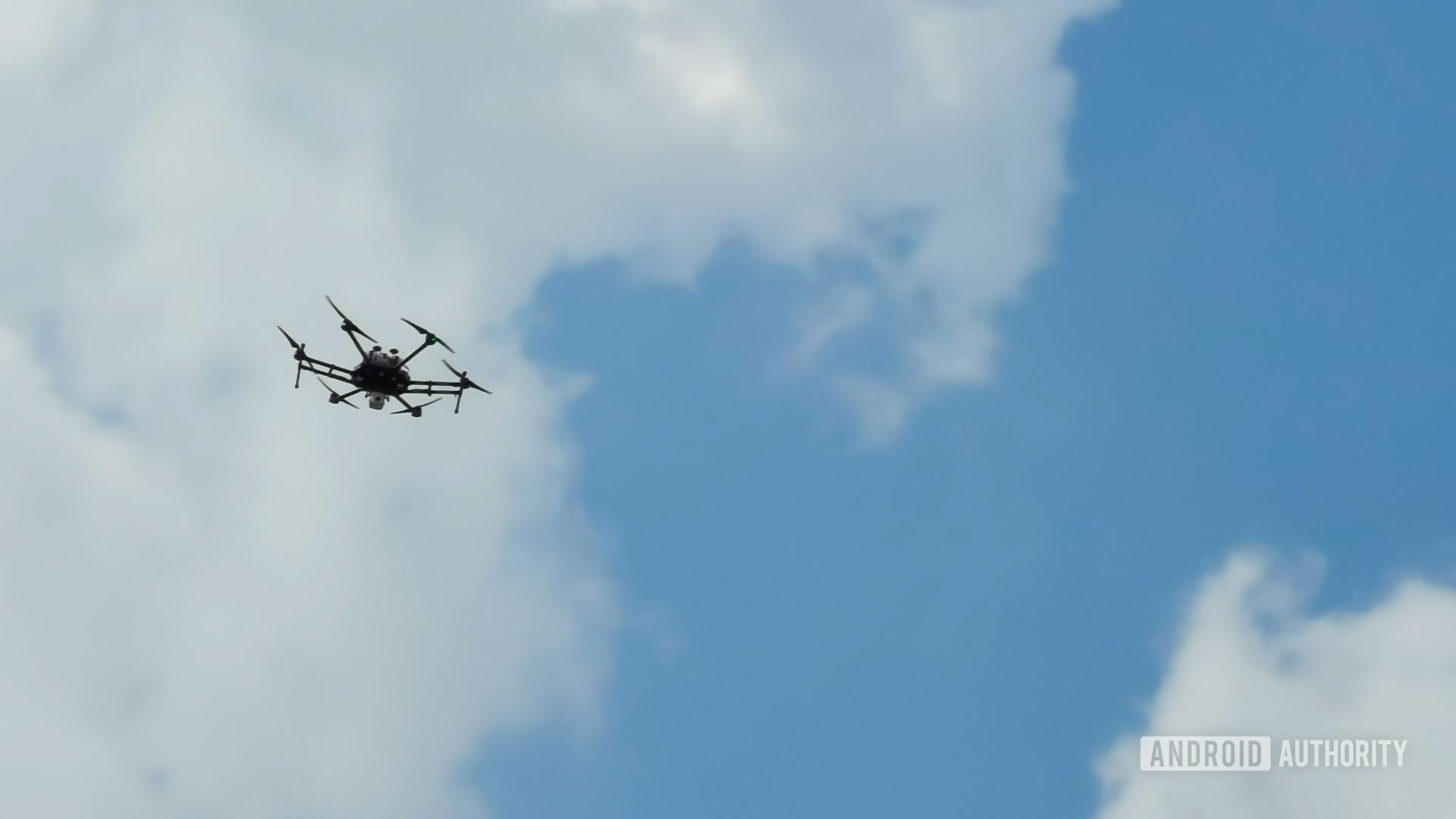 Huawei HQ 5G police drone in flight
