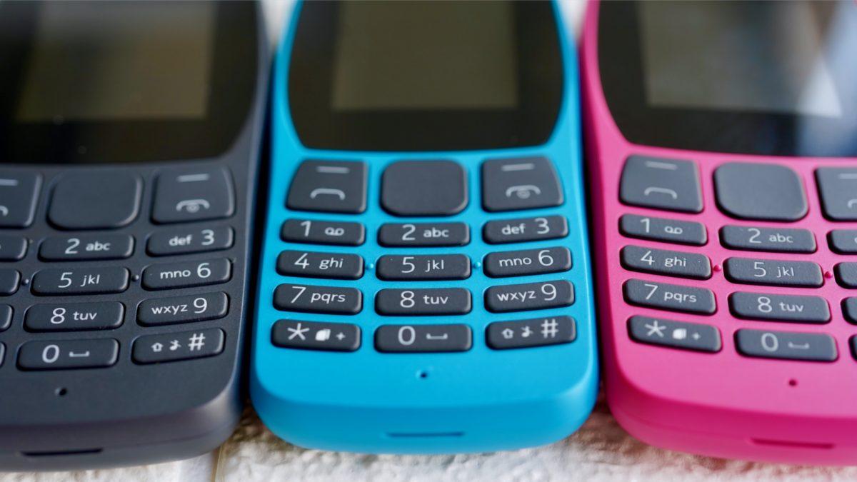 Nokia 110 family number pad closeup