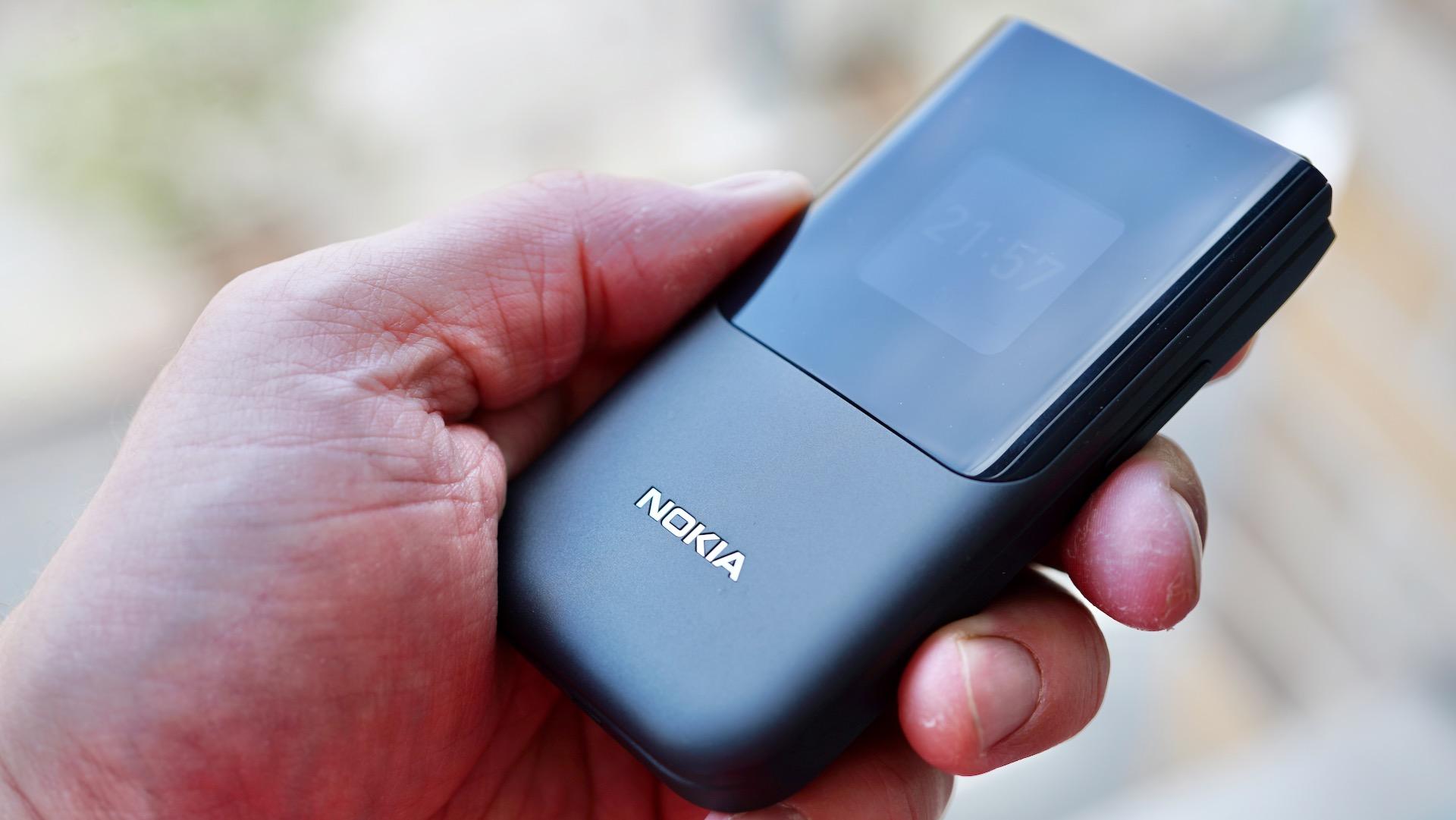 Nokia 2720 closed in hand