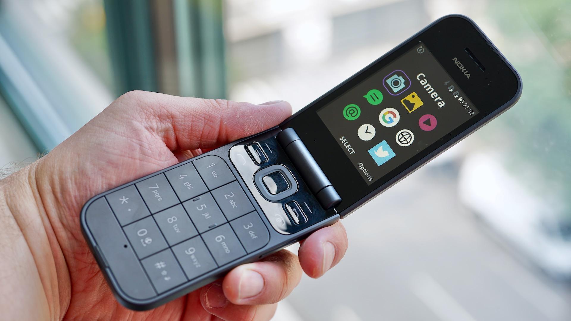 Nokia 2720 open in hand