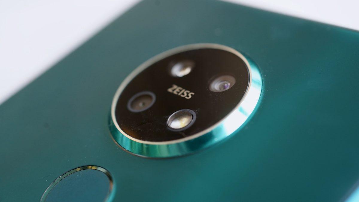 Nokia 7 2 zeiss lens closeup