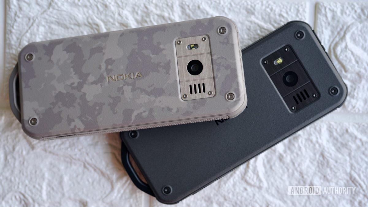 Nokia 800 Tough camo and black.