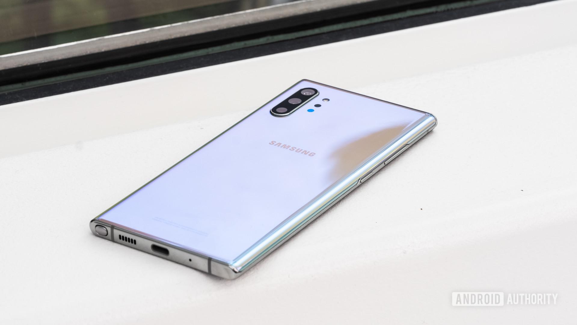 Samsung Galaxy Note 10 Plus back at angle