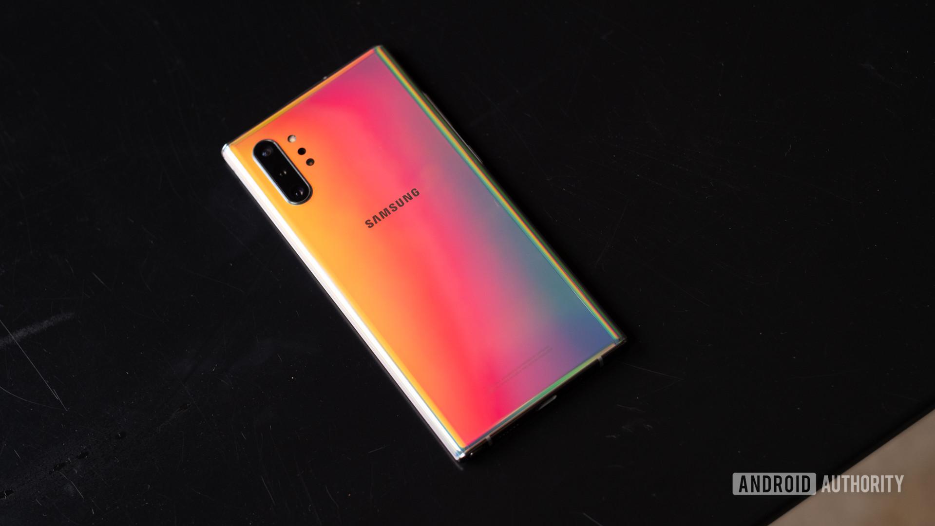 Samsung Galaxy Note 10 Plus face down 2