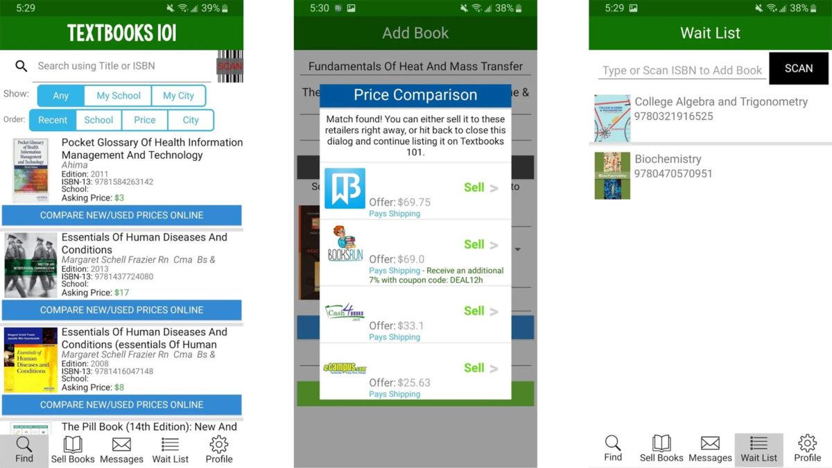 Textbooks 101 screenshot 2020