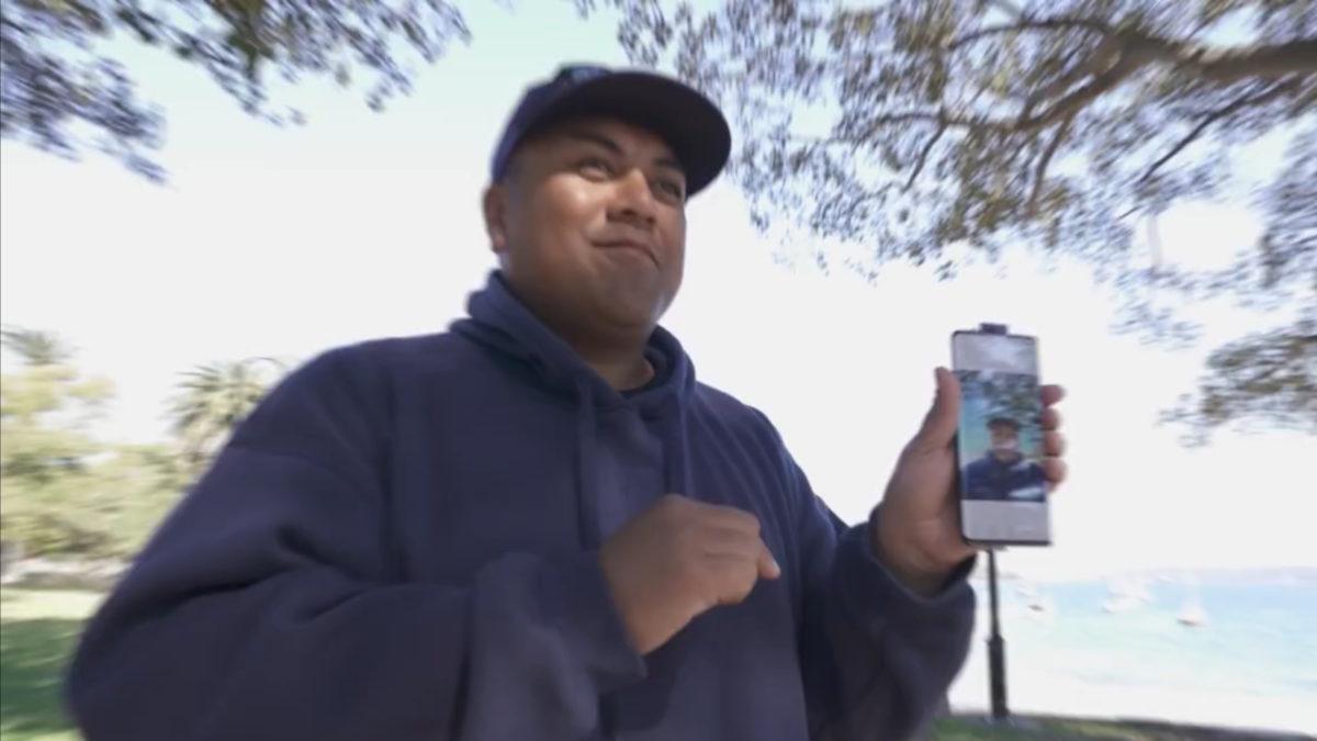 Vivo Nex 3 official video still showing pop-up selfie camera.