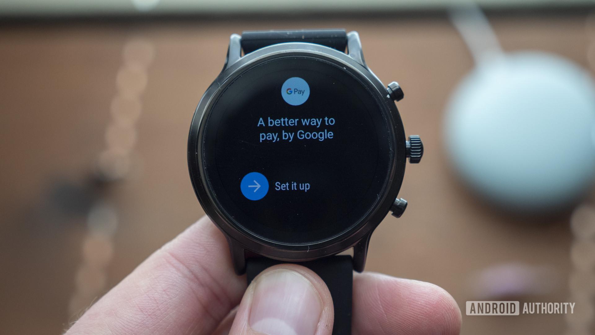 fossil gen 5 smartwatch review google pay