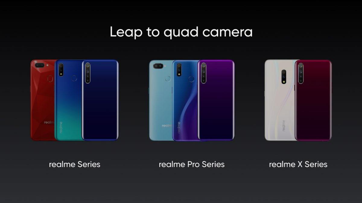 Realme phones with quad cameras.