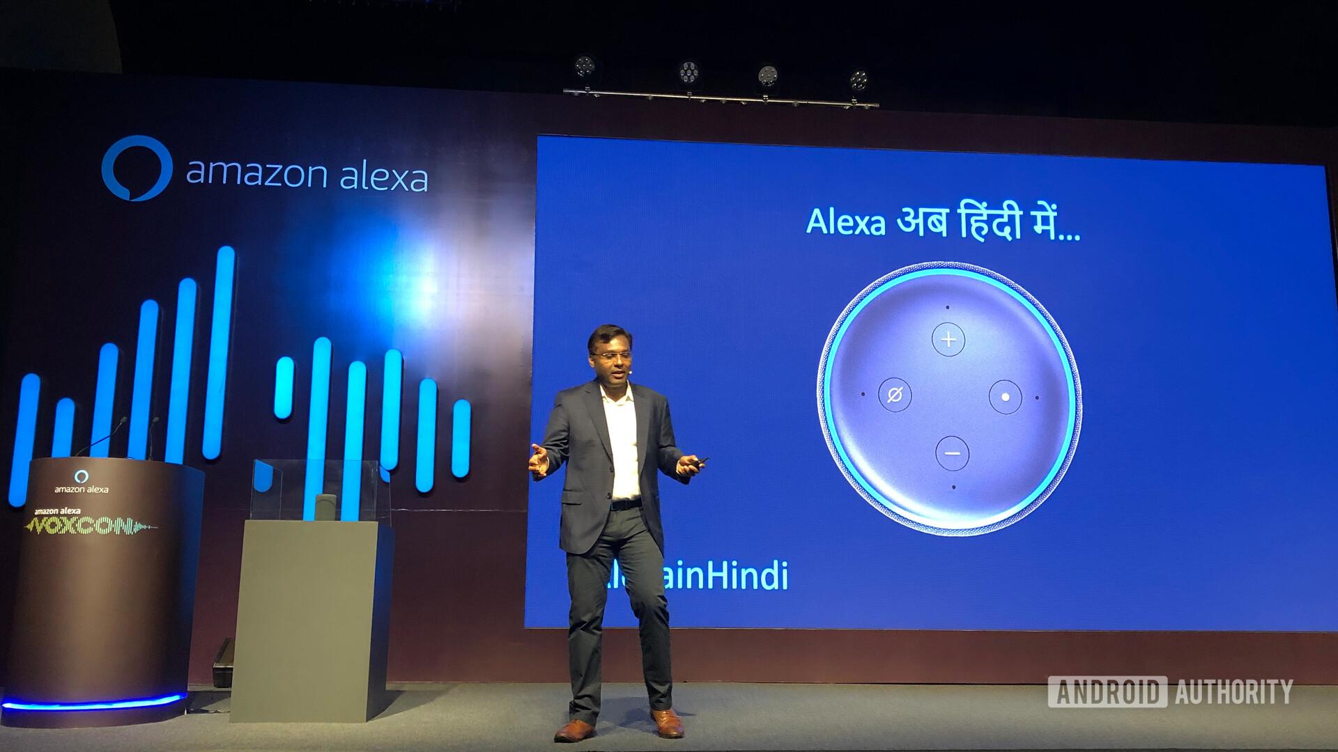 Amazon Alexa Hindi Language Support Stage Announcement