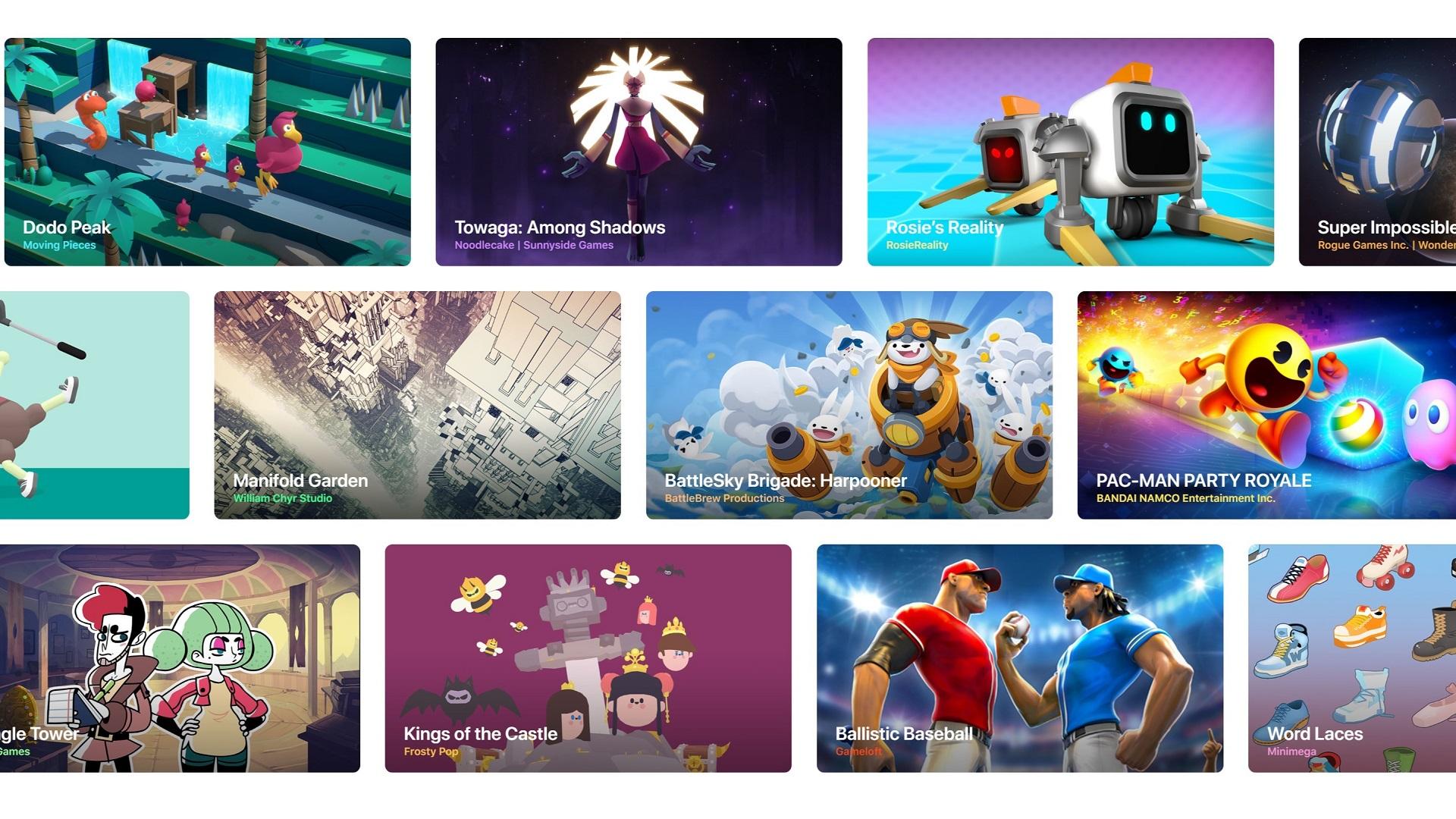 Apple Arcade games developers