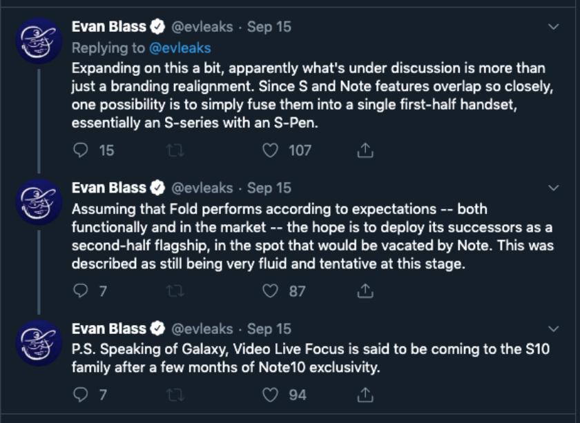 Galaxy One Evan Blass Tweet thread
