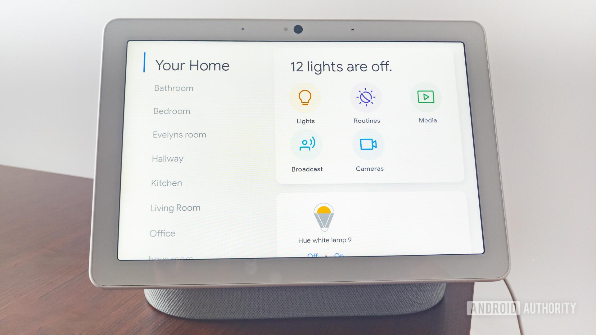 Google Home Hub Max smart home screen