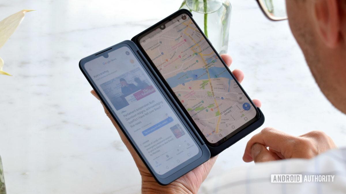LG G8X ThinQ Dual Screen Mode