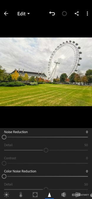 Lightroom edit screenshots Noise 3