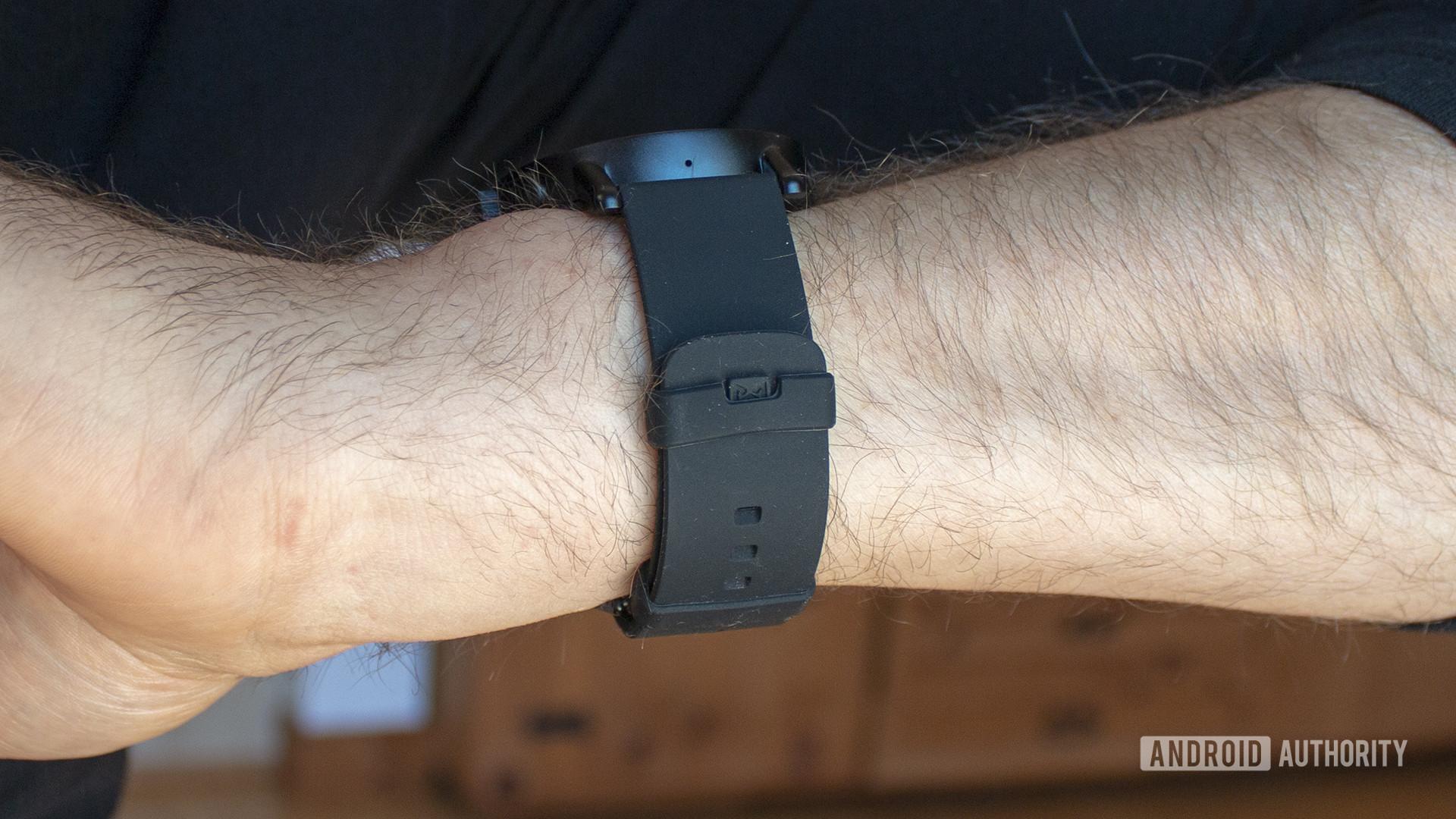 Misfit Vapor X Smartwatch Strap Closeup On Wrist